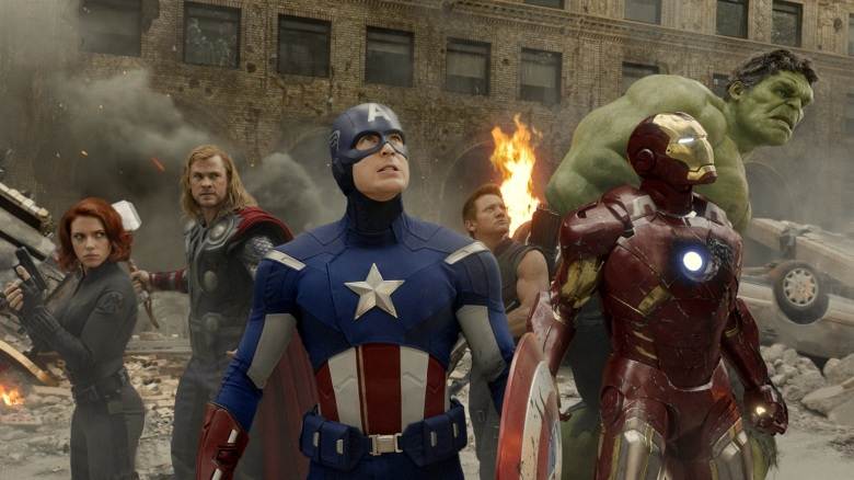 Black Widow, Thor, Captain America, Hawkeye, Iron Man, Hulk